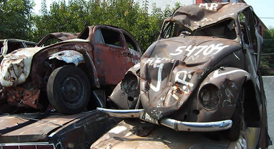 Chatarreo de vehículos, sin pagar impuestos, SOAT y revisión técnico mecánica