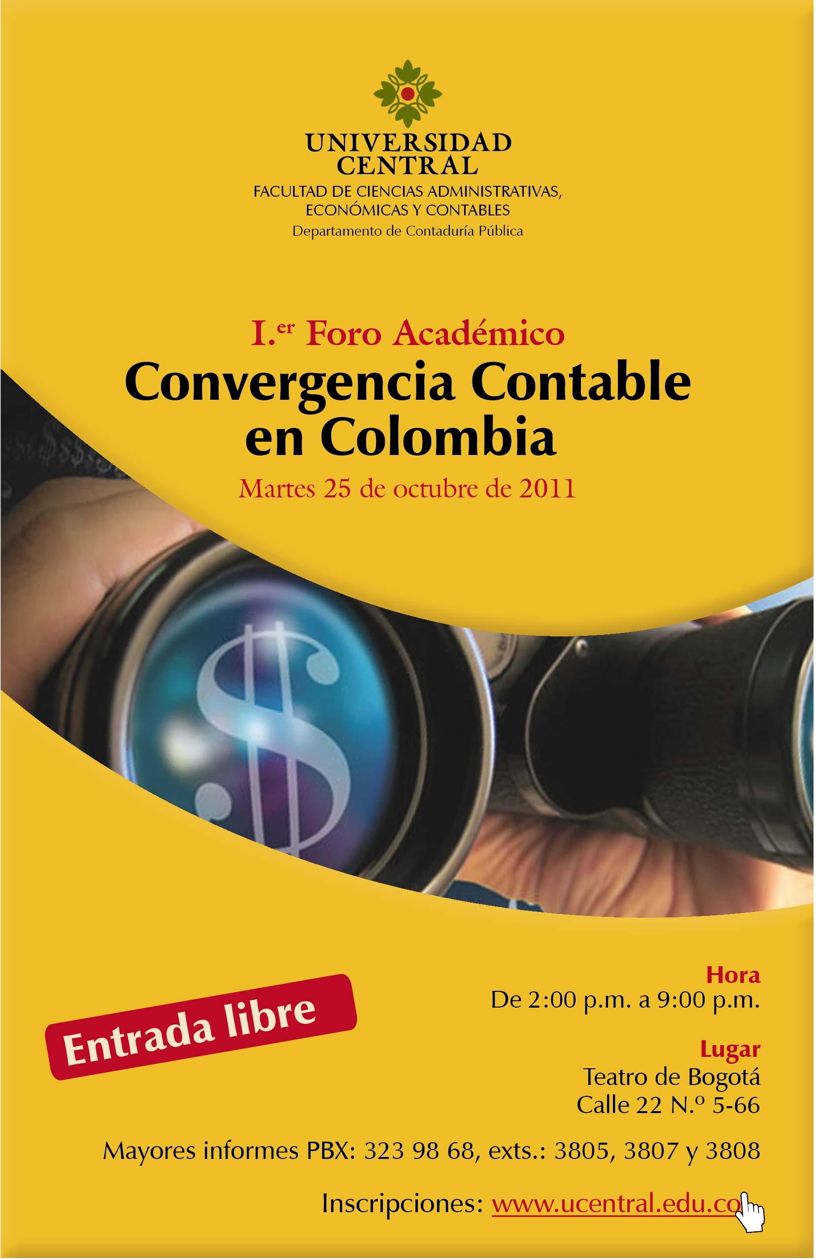 Primer Foro Académico sobre la Ley de Convergencia en Colombia