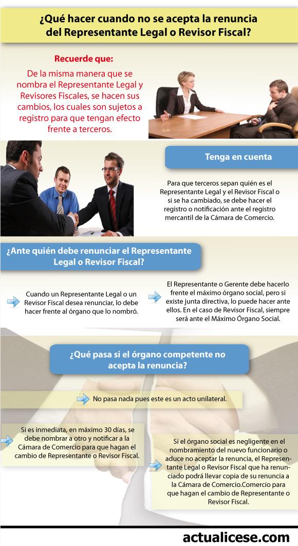 Infografía] Renuncia de Representante Legal o Revisor Fiscal, un ...