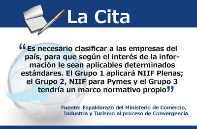 Espaldarazo del Ministerio de Comercio, Industria y Turismo al proceso de Convergencia. Primera Parte