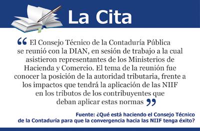 [La Cita] Impuestos y NIIF, para evitar confusiones