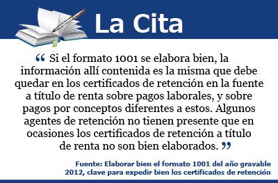 [La Cita] Expida bien los certificados de retención