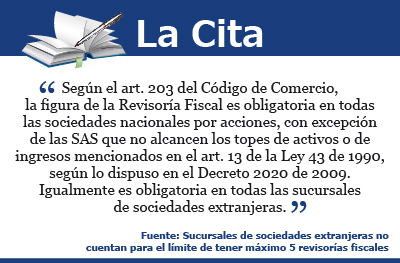 [La Cita] Revisoría fiscal para sociedades
