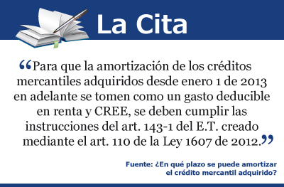 [La Cita] Amortización de créditos mercantiles