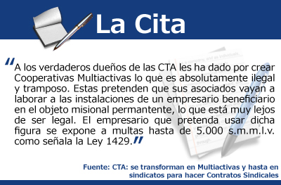 CTA: se transforman en Multiactivas y hasta en sindicatos para hacer Contratos Sindicales