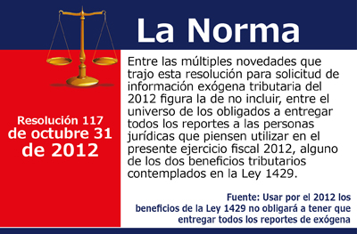 [La Norma] Novedades para la información exógena 2012