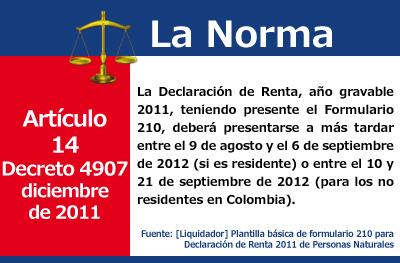 [Liquidador] Formulario 210 para Declaración de Renta 2011 de Personas Naturales
