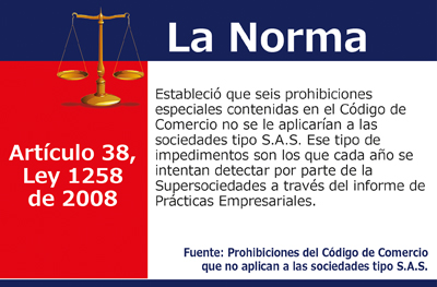 Prohibiciones del Código de Comercio que no aplican a las sociedades tipo S.A.S.