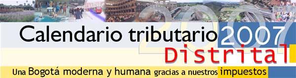 Calendario Tributario Distrital 2007