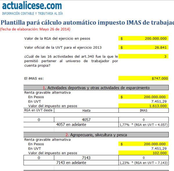 Liquidador] Plantilla para cálculo automático impuesto IMAS de ...