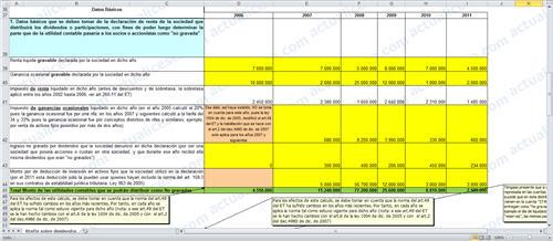 Cálculo Retención en la Fuente sobre dividendos gravados que se distribuyan durante 2012