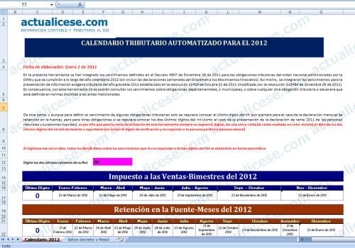 [Calendario] Calendario Tributario Automatizado 2012