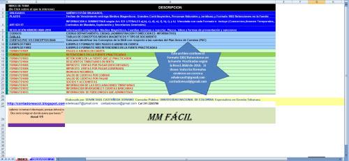 [Liquidador] Organizador de Información Exógena año gravable 2010 – Edwin Saul Castañeda