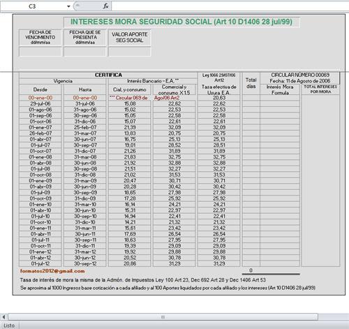 [Liquidador] Tabla para el cálculo de intereses por mora – Fernando Cortés Martinez