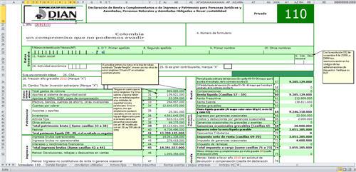[Liquidador] Formulario 110 adaptado a declaración de renta 2011 Personas Jurídicas obligados a llevar contabilidad