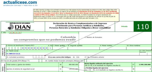 Formularios 110 y 140 con anexos y formato 1732 año gravable 2013