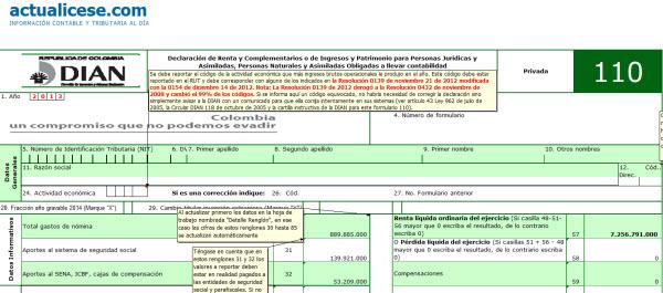 [Liquidador Avanzado] Diligenciamiento de formularios 110 y 240 con anexos y formato 1732 para la declaración de renta de una persona natural comerciante año gravable 2013