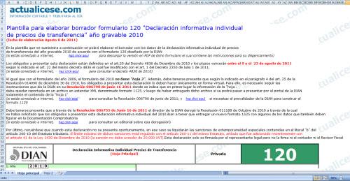 Rmativa Individual De Precios De Transferencia  A  O Gravable 2010