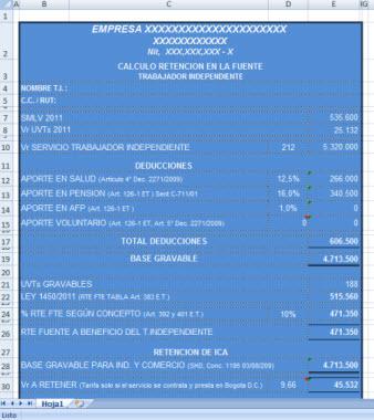 [Liquidador] Cálculo de la retención en la fuente en trabajadores independientes – Iván Fernando Muñoz