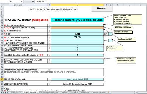 [Liquidador] Formulario 110 de renta para obligados a llevar contabilidad año gravable 2011 – Jorge Edwin Guevara C.