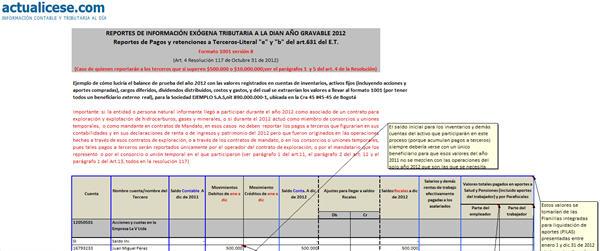 """[Liquidador] Reportes de Pagos y retenciones a Terceros – Literal """"e"""" y """"b"""" del artículo 631 del E.T. – Caso 2"""