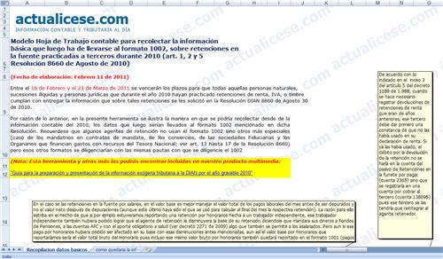 [Liquidador] Hoja de trabajo contable para recolectar la información básica que se incluirá en el formato 1002 por el año gravable 2010