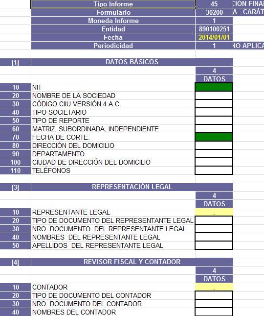 Plantilla para elaborar el ESFA individual a enero 1 de 2014 en entidades del grupo 1