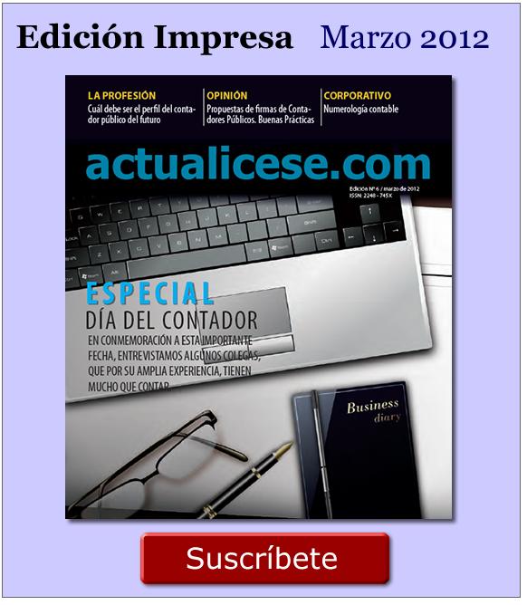 Revista actualicese.com de Marzo 2012